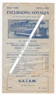 06 - NICE -  AUTOCAR PULLMAN - EXCURSIONS - Programme - Voyages COLOMB - 1960 - Other