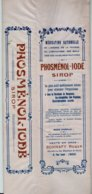 Boite Carton Pharmacie - Non Dépliée - Sirop PHOSMENOL IODE - Pharmacie BONNAFY - LIMOGES - Matériel Médical & Dentaire