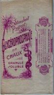 Boite Carton Pharmacie - Non Dépliée - Glycéroplosphate De Chaux - Pharmacie BONNAFY - LIMOGES - Medical & Dental Equipment