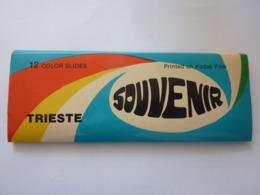 """Souvenir """"TRIESTE  12 COLOR  Slides  Printed On  KODAK FILM""""  Anni '60 - Diapositive"""