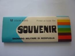 "Souvenir ""SACRARIO MILITARE DI REDIPUGLIA  12 COLOR  Slides  Printed On  KODAK FILM""  Anni '60 - Diapositives (slides)"