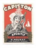 Etiquette  Vin De Liqueur  -  Capiston  -   R. Mourat  Les Sables D'Olonne  (85) - Labels