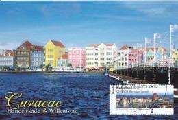 D38242 CARTE MAXIMUM CARD RR 2015 NETHERLANDS - UNESCO WORLD HERITAGE CURAÇAO HOUSES - POSTMARK WILLEMSTAD CP ORIGINAL - UNESCO