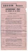 44 - LA BAULE -  SAINT MALO - EXCURSIONS - VOYAGES - Programme  - DROUIN Freres - 1963 - Other