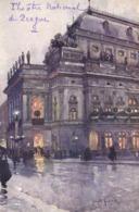 J Setelik Prague Theatre National De Boheme RV - Peintures & Tableaux