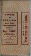 Boite Carton Pharmacie - Non Dépliée - Poudre De Réglisse - Pharmacie BONNAFY - LIMOGES - Matériel Médical & Dentaire