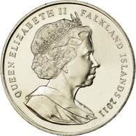 Monnaie, Falkland Islands, Elizabeth II, Crown, 2011, Pobjoy Mint, SUP - Malvinas
