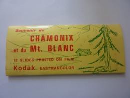 """Souvenir """"Souvenir De CHAMONIX Et Du MONT BLANC 12 COLOR  Slides  Printed On FILM KODAK EASTMANCOLOR""""   Anni '60 - Diapositive"""