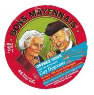 ETIQUETTE De FROMAGE Cartonnée .CAMEMBERT Fabriqué En MAYENNE.. BONS MAYENNAIS..VAUBERNIER à MARTIGNE (53) - Cheese