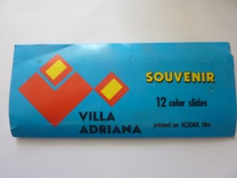 "Souvenir ""VILLA ADRIANA 12 Color  Slides  Printed On KODAK Film""   Anni '60 - Diapositives (slides)"