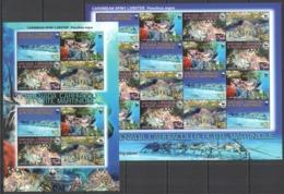 W857 2009 GRENADA CARRIACOU FAUNA WWF MARINE LIFE LOBSTERS #4500-03 !!! MICHEL 24 EURO !!! SH+KB MNH - Marine Life