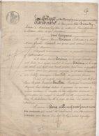 Acte Commune De Marines Val-d'Oise 1845 De 8 Pages - Manuscrits