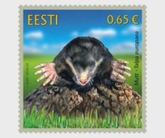 H01 Estonia 2019 Estonian Fauna – The Mole MNH Postfrisch - Estland