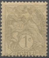 Type Blanc. 1c. Gris Papier GC (IB) Neuf Luxe ** Y107d - Francia