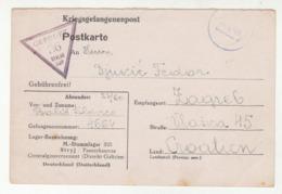 WWII 1943 Kriegsgefangenenpost POW Postcard From Stalag 325 Stryj Panzerkaserne To Zagreb Croatia *b190920 - Allemagne