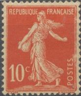 Type Semeuse Fond Plein Avec Sol. 10c. Rouge (I) Neuf Luxe ** Y134 - France