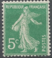 Type Semeuse Fond Plein Sans Sol. 5c. Vert Clair Neuf Luxe ** Y137a - France