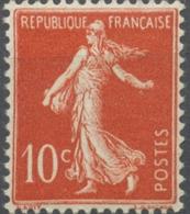 Type Semeuse Fond Plein Sans Sol, Grasses. 10c. Rouge (IA) Neuf Luxe ** Y138 - Francia