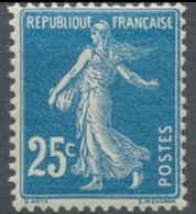 Type Semeuse Fond Plein Sans Sol, Grasses. 25c. Bleu (IA) Neuf Luxe ** Y140 - Nuovi
