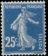 Type Semeuse Fond Plein Sans Sol. 25c. Bleu Foncé (IA) Neuf Luxe ** Y140a - Nuovi