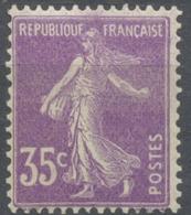 Type Semeuse Fond Plein Sans Sol, Grasses. 35c. Violet (I) Neuf Luxe ** Y142 - Nuovi