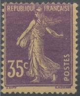 Type Semeuse Fond Plein Sans Sol, Grasses. 35c. Violet Papier GC (I) Neuf Luxe ** Y142d - Nuovi