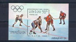 Laos. Bloc Feuillet. Jeux Olympiques D'hiver à Sarajevo. Hockey Sur Glace - Laos