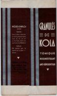 Boite Carton Pharmacie Herboristerie - Non Dépliée - Granulés De KOLA - Pharmacie BONNAFY - LIMOGES - Medical & Dental Equipment