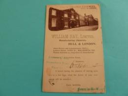 HULL AND LONDON ENTIER POSTAL WILLIAM HAY - Pubblicitari
