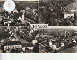 23 - Très Belle Carte Postale Semi Moderne Dentelée De CHENIERS   Multi Vues - France