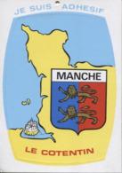 CPM - CARTE AUTOCOLLANT - BLASON MANCHE LE COTENTIN - Edition Artaud - Altri