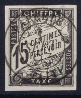Colonies Francaises  Tax Yv 7 Cachet A Date  Tahiti Papeete RRR Has A Small Thin Spot - Tahiti (1882-1915)