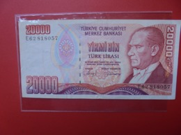 TURQUIE 20.000 LIRASI 1970(88) CIRCULER (B.7) - Turkije