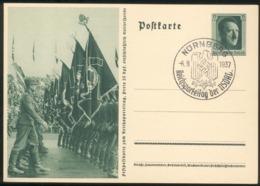 """III. Reich Mi.-Nr.P264/02 Mit SST """"Nürnberg 6.9.1937"""" Pracht - Storia Postale"""