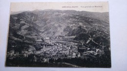 Carte Postale ( Y8 ) Ancienne De Amélie Les Bains , Vue Générale Et Montbolo - Otros Municipios
