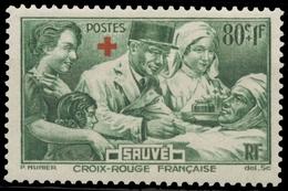 Au Profit Des Blessés.  Croix Rouge En Surcharge Typographique. 80c. + 1f. Vert Neuf Luxe ** Y459 - France