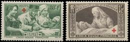 Au Profit Des Blessés.  Croix Rouge En Surcharge Typographique. N°459 à 460 Neuf Luxe ** Y460S - France