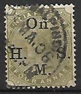 INDE  Anglaise    -   Timbre De Service  -   1883 .   Y&T N° 33 Oblitéré. - India (...-1947)