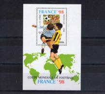 Laos. Bloc Feuillet. Coupe Du Mode De Football En France. 1998 - Laos