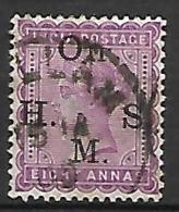 INDE  Anglaise    -   Timbre De Service  -   1883 .   Y&T N° 34 Oblitéré. - India (...-1947)