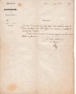 1857 - SISTERON - Nomination En Qualité De RECEVEUR DE L'OCTROI - L.S. Du Maire De Sisteron - Documents Historiques