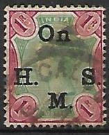 INDE  Anglaise    -   Timbre De Service  -   1883 .   Y&T N° 35 Oblitéré. - India (...-1947)