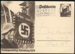 """III. Reich Mi.-Nr.P252 Mit TS """"Nürnberg ..1934"""" Feinst/pracht - Storia Postale"""