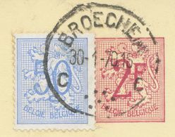 BELGIUM BROECHEM C (now Ranst) SC With Dots 1970 (Postal Stationery 2 F + 0,50 F, PUBLIBEL 2237 V) - Otros