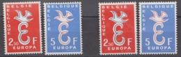 Europa Cept 1958 Belgium  2v ** Mnh + 2v Mh (= Mint, Hinged) (44668) - 1958
