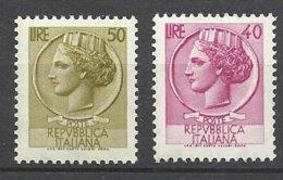 Italie N° 717A  Et   717B   Neufs * * T B .. = MNH  Soldé  à Moins De 20 %  ! ! ! - 1946-60: Mint/hinged