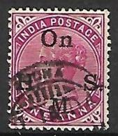 INDE  Anglaise    -   Timbre De Service  -   1900 .   Y&T N° 37 Oblitéré. - India (...-1947)