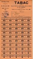1920/21 - Ste-FOY-LES-LYON (69) Grande Carte De Tickets De TABAC - Documents Historiques