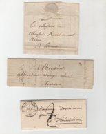 3 Lettres XIX° Siècle - Manuscrits