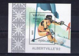 Laos. Bloc Feuillet. Jeux Olympiques D'hiver à Albertville 1992. Slalom - Laos
